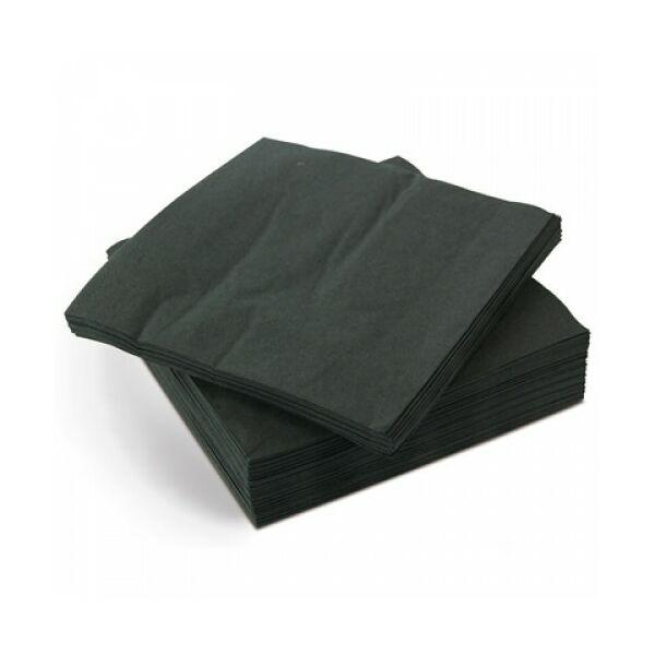 Koktélszalvéta 12x12cm 100db/cs fekete