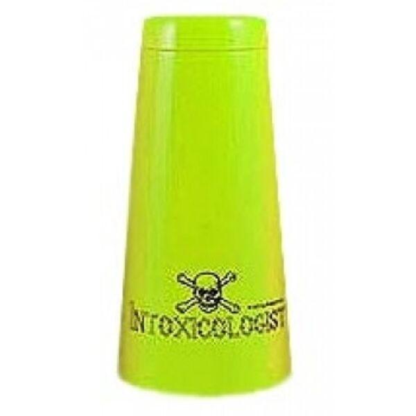 Boston koktél shaker Intoxicologist felirattal sárga