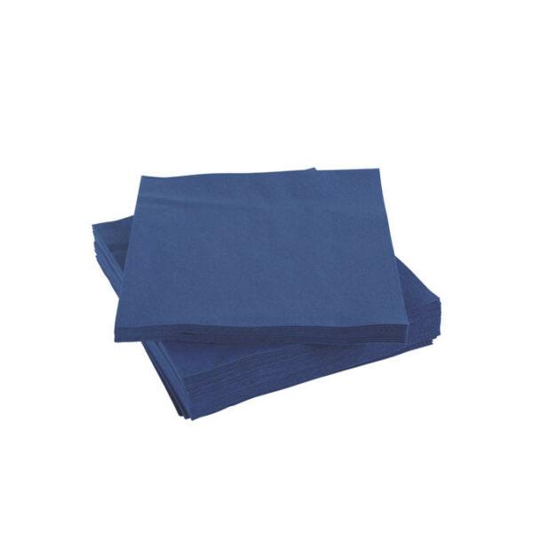 koktélszalvéta 24x24cm 200db/cs kék