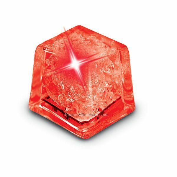 Világító jégkocka 28x28mm piros