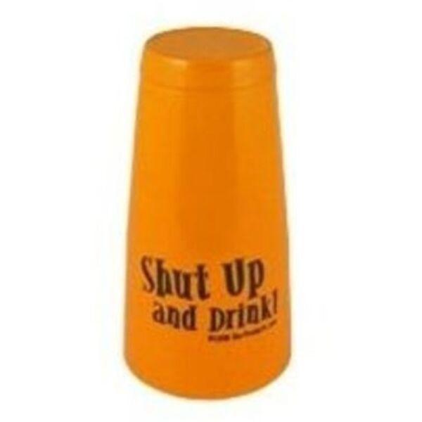 Boston koktél shaker Shut up and drink felirattal narancssárga