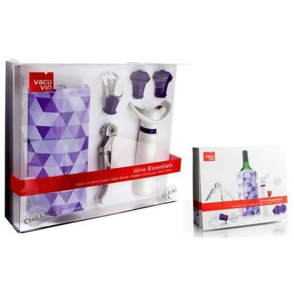 Vacu Vin Essentials bornyitó dugóhúzó szett lila
