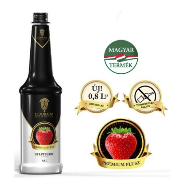 Eldorado eper szirup 40% gyümölcs tartalommal 0,8 L