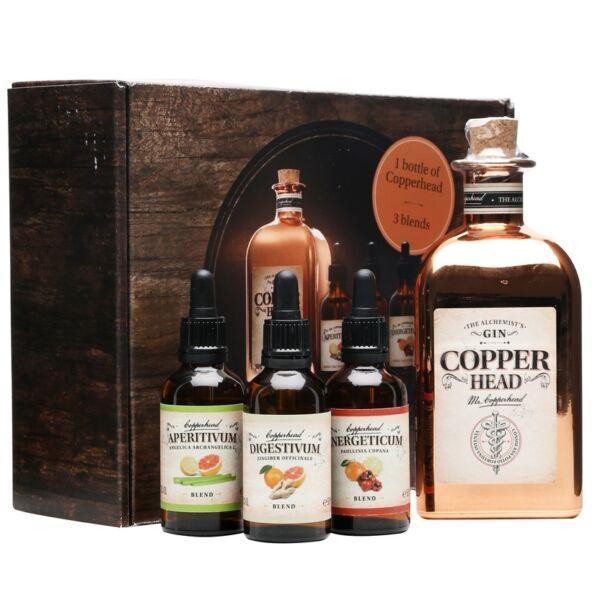 Copperhead Gin és bitter szett 0,5L 40%