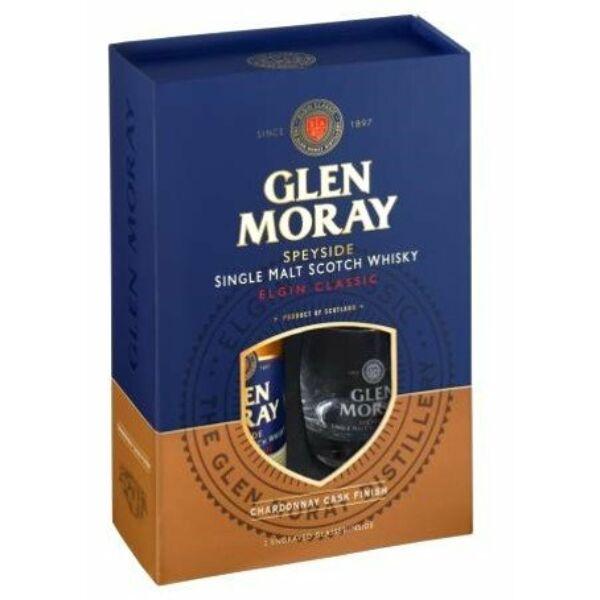 Glen Moray Chardonnay Cask 40% dd.+ 2 pohár