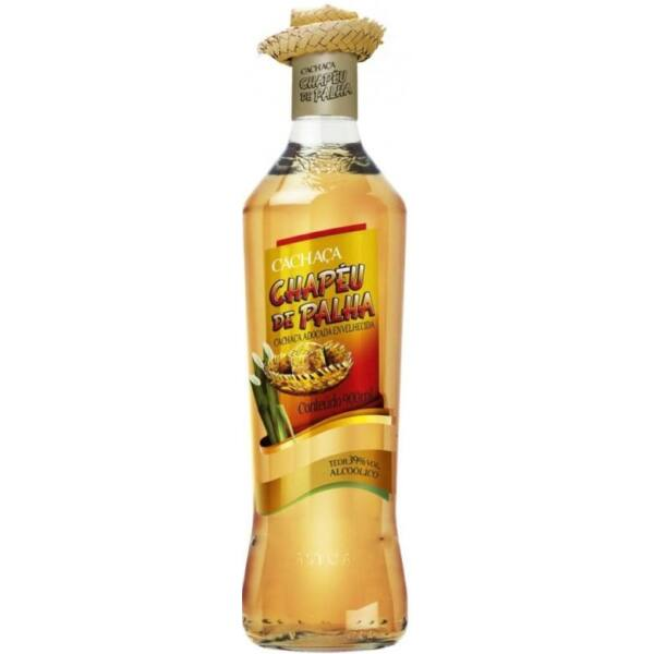 Cachaca Chapéu de Palha Ouro rum 0,7L 39%