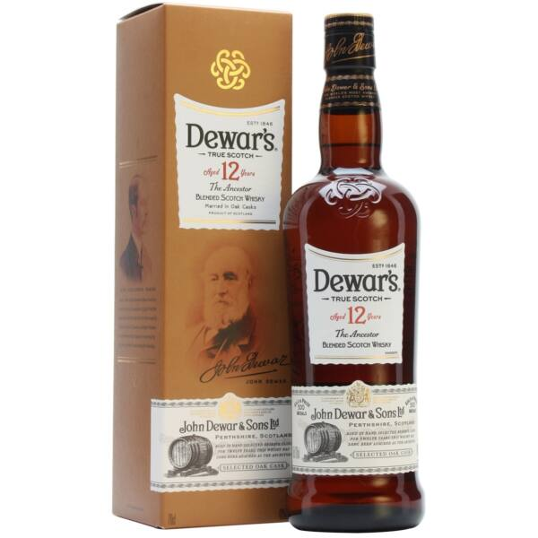 "Dewars 12 years ""The Ancestor"" whisky 0,7 40% pdd."