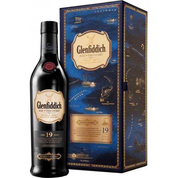 Glenfiddich 19 y. age of Discovery BOURBON CASK RESERVE whisky 0,7L 40% dd. (kék)