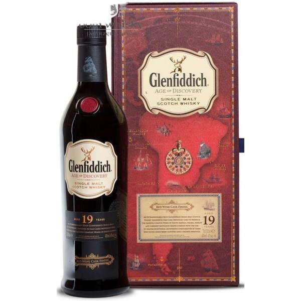 Glenfiddich 19 y. age of Discovery RED WINE CASK FINISH whisky 0,7L 40% dd. (piros)