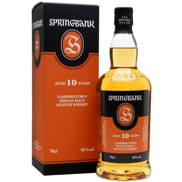 Springbank 10 years whisky 0,7L 46% pdd.