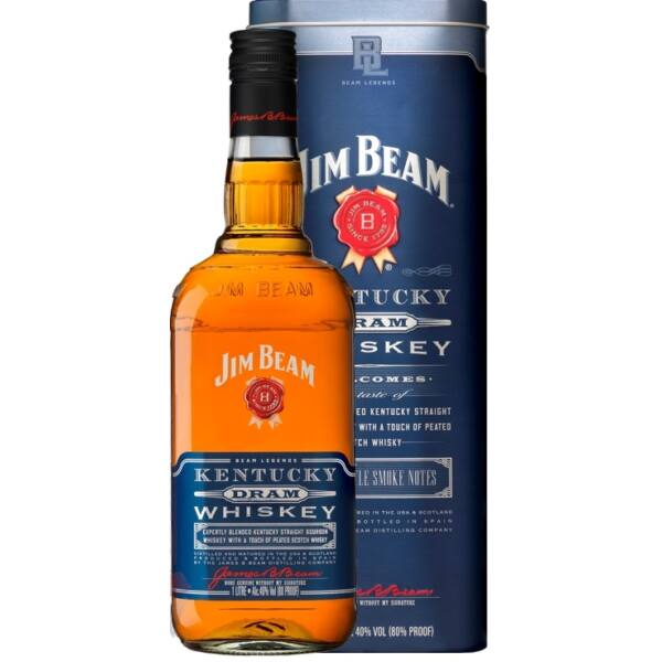 Jim Beam Kentucky Dram whisky 1L 40% fém dd.