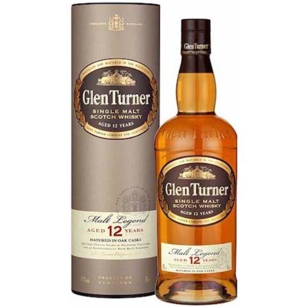 Glen Turner 12 years Malt Legend whisky 0,7L 40% dd.