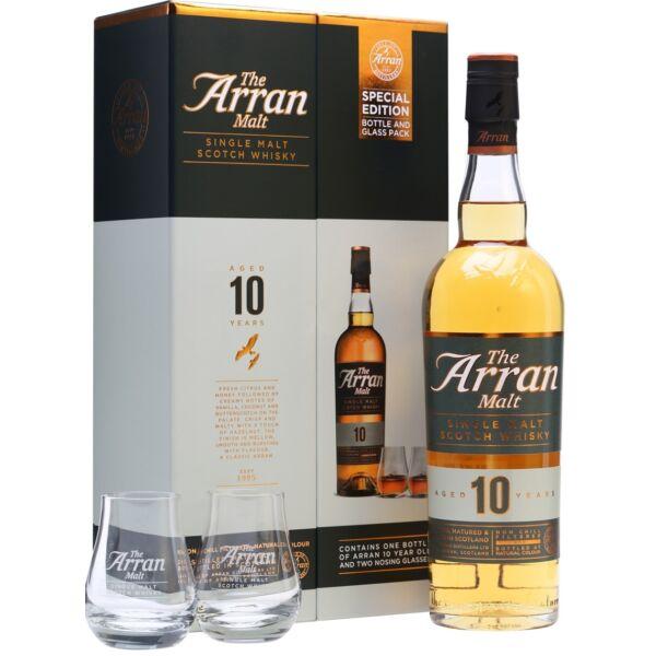 Arran 10 éves whisky 0,7L 46% pdd 2 pohárral