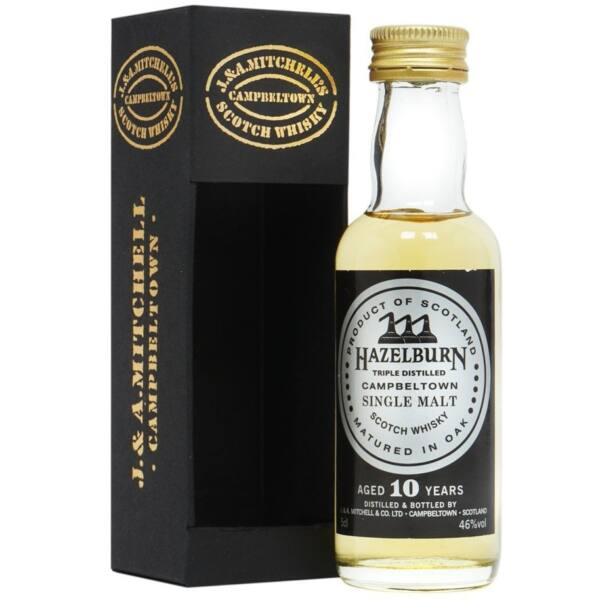 Hazelburn 10 éves mini whisky 0,05L 46%