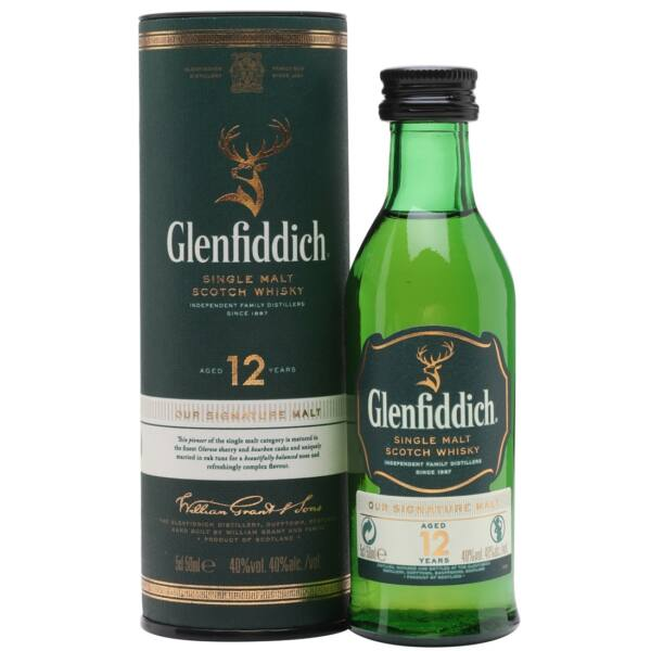 Glenfiddich 12 éves skót whisky dd mini 0,05L 40%