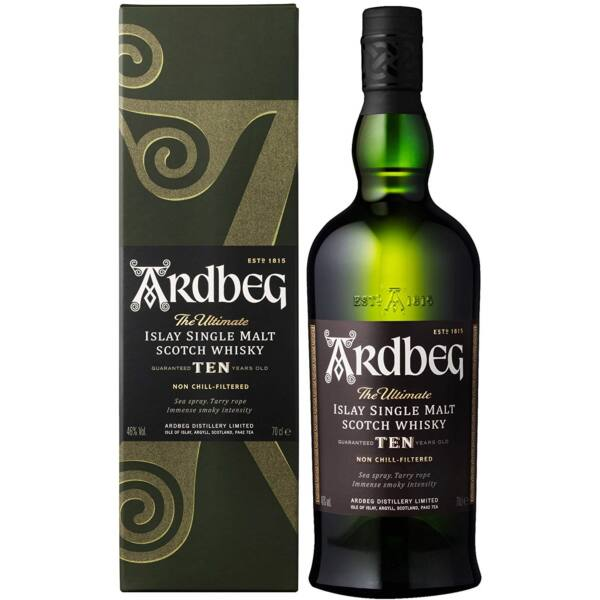Ardbeg 10 years whisky pdd. 0,7L 46%