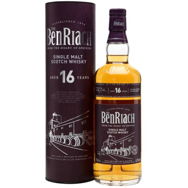 BenRiach 16 years whisky dd. 0,7L 43%