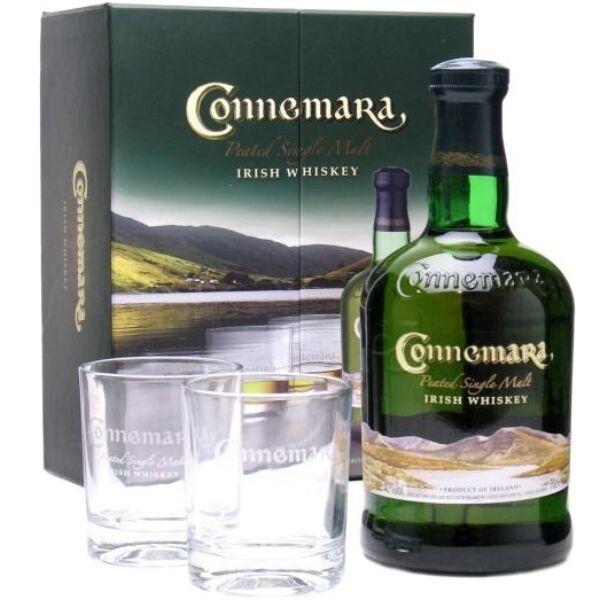 Connemara Distillers Edition whiskey dd. 0,7L 43% + 2 pohár