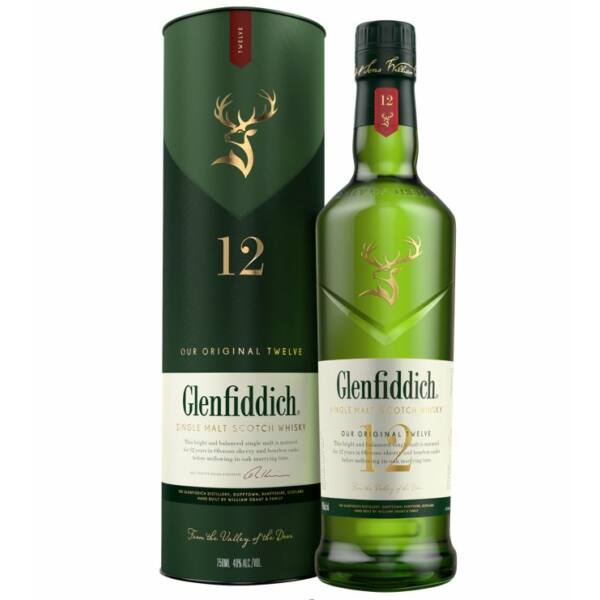 Glenfiddich 12 years whisky 0,7L 40%