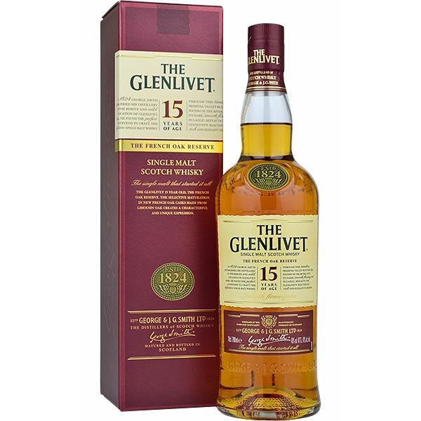 Glenlivet 15 years whisky pdd. 0,7L 40%