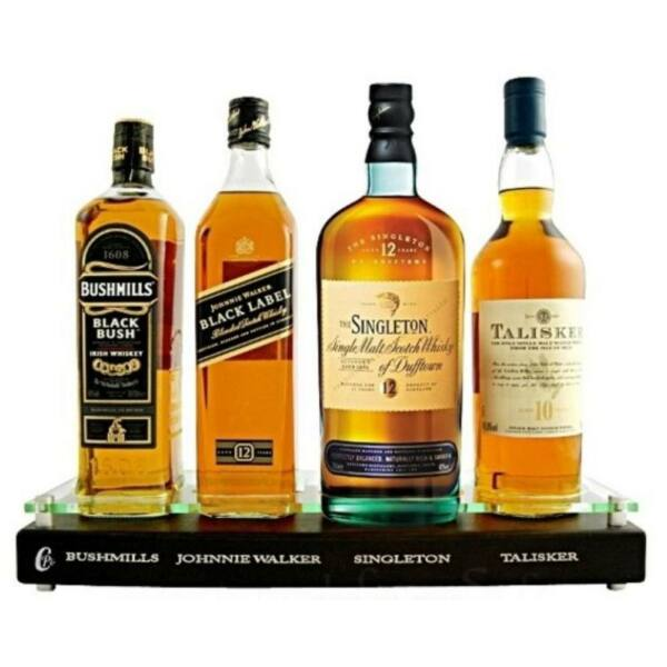 Premium Whiskies Pack Display 4x0,7L állvánnyal