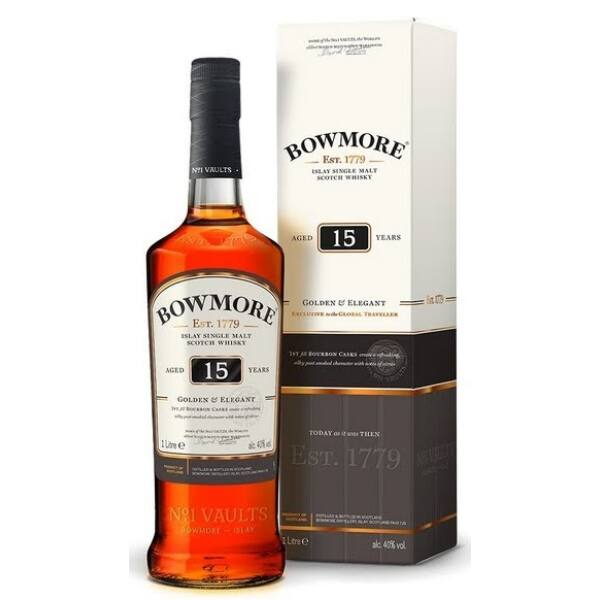Bowmore 15 years 1,0 43% pdd. Golden & Elegant
