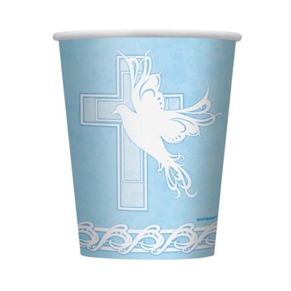 Keresztelőre kék pohár 8 db/cs