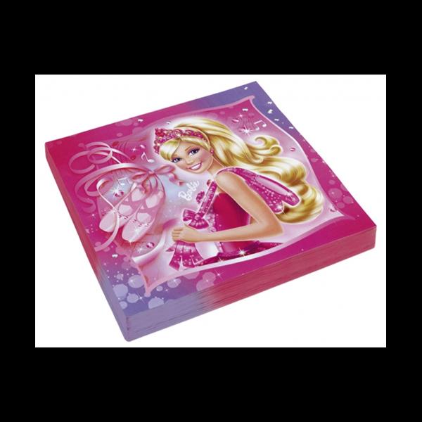 Barbie szalvéta 20 db/cs 33 x 33 cm
