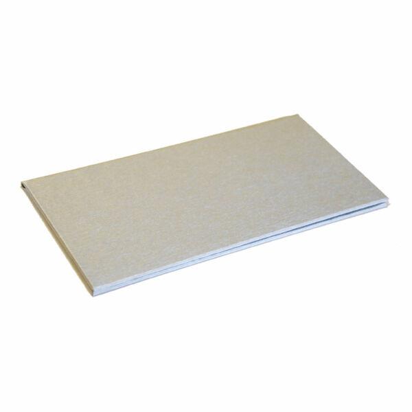 Logózható számlatartó mappa - csáró 200x105mm ezüst