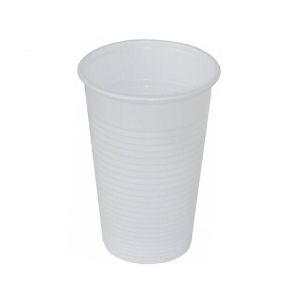 Fehér műanyag pohár 300ml 100db/cs