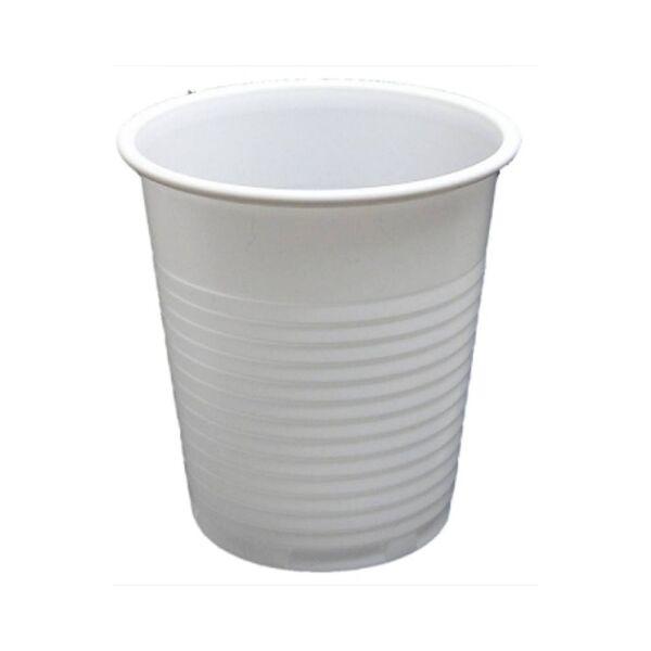 Fehér műanyag pohár 100ml 100db/cs