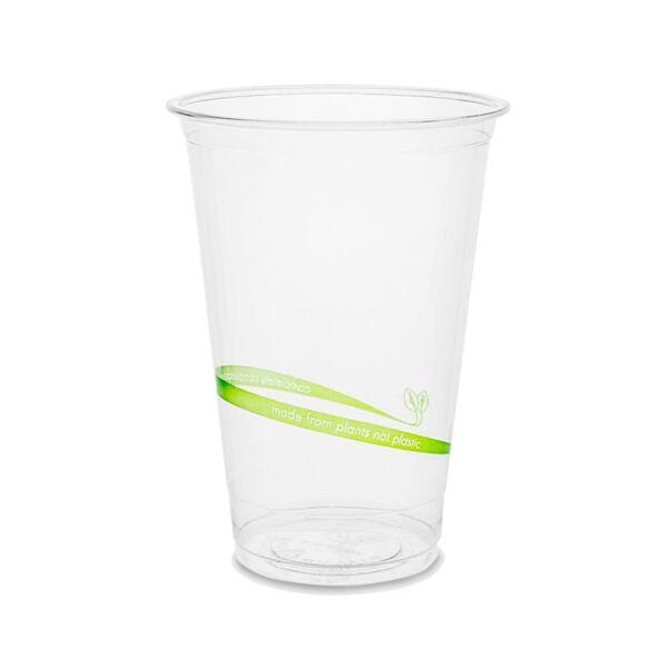 5,6 dl feliratos PLA biológiailag lebomló, komposztálódó öko pohár 50db/csomag
