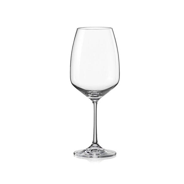 Giselle vörösboros kristály pohár 560ml