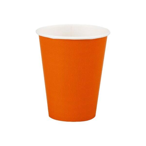 Narancs pohár 250 ml 8 db/cs