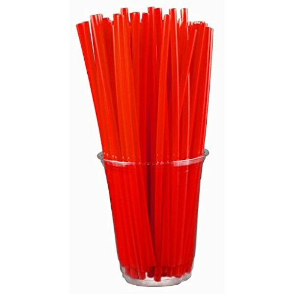 Vastag piros szivószál 500db/cs