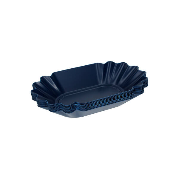 Rhinowares kék pörkölt kávés cupping ovális tálcák - 12 db csomag