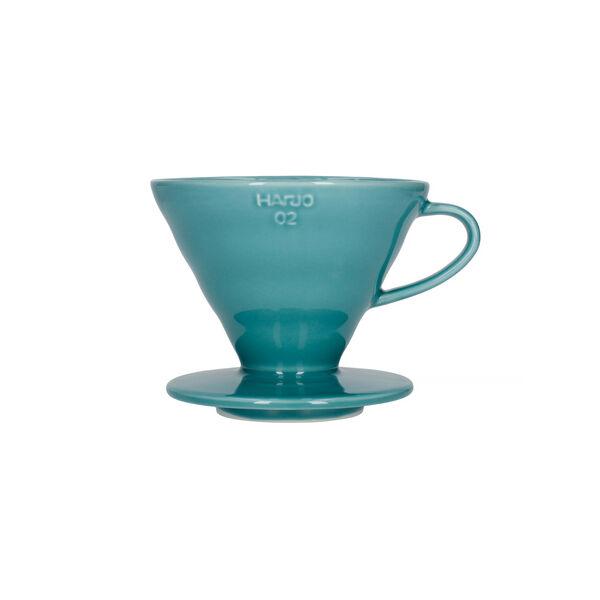 Hario V60-02 kerámia kávécsepegtető dripper türkiz zöld