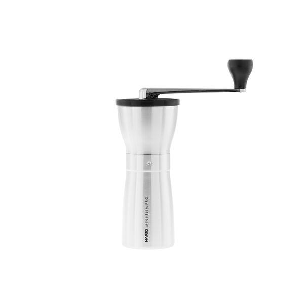 Hario kerámia kávédaráló Mini Slim PRO Silver - kézi kávédaráló
