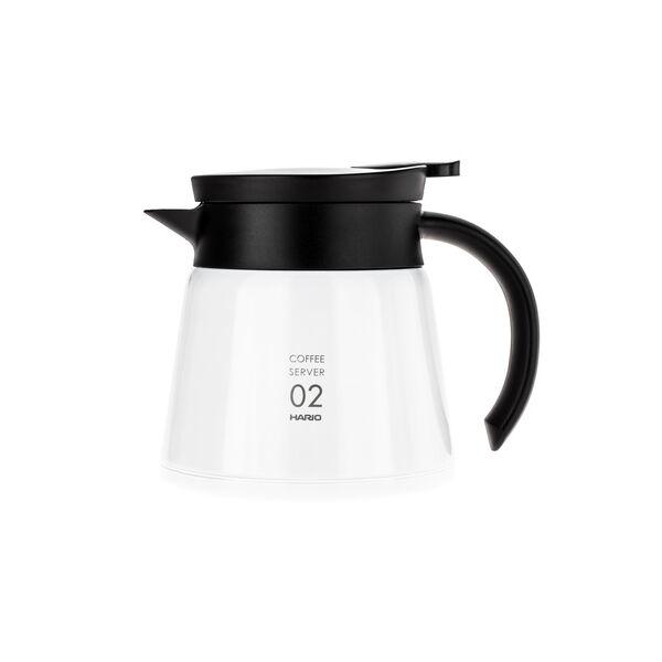 Hario szigetelt duplafalú rozsdamentes acél kávés kancsó V60-02 fehér 600ml