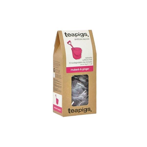 Teapigs Rhubarb & Ginger Filteres Tea 15 filter