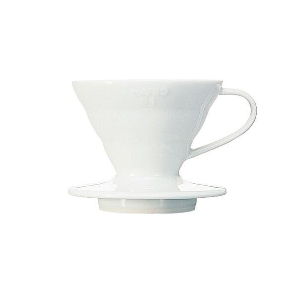 Hario V60-01 kerámia kávéfőző dripper fehér
